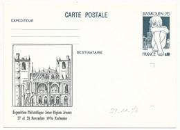 Entier Repiqué - 0,60 Juvarouen - Exposition Philatélique Inter-Région Jeunes NARBONNE 1976 (Entier Neuf) - AK Mit Aufdruck (vor 1995)