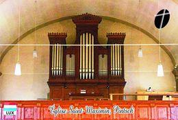 Carte Postale, églises, Orgues, Churches Of Luxembourg, Pintsch, Église Saint-Maximin - Kerken En Kathedralen