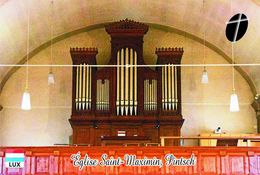 Carte Postale, églises, Orgues, Churches Of Luxembourg, Pintsch, Église Saint-Maximin - Churches & Cathedrals