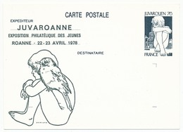 Entier Repiqué - 0,60 Juvarouen - JUVAROANNE - Avril 1978 (Entier Neuf) - AK Mit Aufdruck (vor 1995)