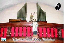 Carte Postale, églises, Orgues, Churches Of Luxembourg, Weicherdange, Église De Saint-Vincent-Martyr - Eglises Et Cathédrales