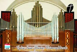 Carte Postale, églises, Orgues, Churches Of Luxembourg, Weimerschkierch, Église Saint-Martin - Churches & Cathedrals