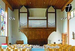 Carte Postale, églises, Orgues, Churches Of Luxembourg, Wilwerwiltz, Église Saint-Willibrord - Kerken En Kathedralen