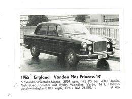 CHROMO IMAGE AUTOMOBILE 1965 ENGLAND VANDEN PLAS PRINCESS R - Vecchi Documenti
