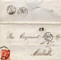 P.D. De VALENCIA à MARSEILLE Par La JUNQUERA - 1849-1876: Klassik