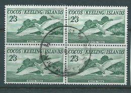 Cocos Keeling Island 1963 2/3 Tern Bird Definitive Block Of 4 Commercially FU - Cocos (Keeling) Islands