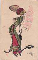 -  Carte Avec Belle Dame  - 024 - Mallet, B.