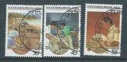 Cocos Keeling Island 1985 Crafts II Set Of 3 FU - Cocos (Keeling) Islands