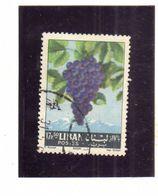 LIBANO LEBANON GRAND LIBAN 1962 FRUIT GRAPES UVA 17.50p USATO USED OBLITERE' - Libano