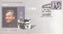 India  2001  Cinema  Raj Kapoor  Mera Nam Joker  Films Actor Producor  COIMBATORE  FDC  #  05885  D Inde Indien - Cinema