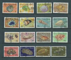Cocos Keeling Island 1985 Shell & Sea Mollusc Marine Fauna Definitive Set 16 FU - Cocos (Keeling) Islands