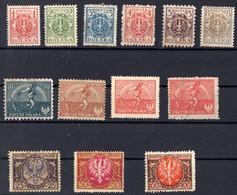 1921 POLOGNE  N* Et Obl  218 A 229 - 1919-1939 Republic