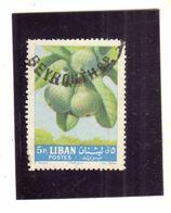 LIBANO LEBANON GRAND LIBAN 1962 FRUIT FIGS FICHI FIGURES 5p USATO USED OBLITERE' - Libano