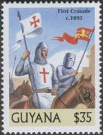 Pope Urban II Claim First Crusade C1095, Religious War Against Islam, Christianity, History Rider, Horse MNH, Guyana - Islam