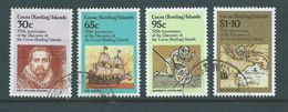 Cocos Keeling Island 1984 Discovery Anniversary Set 4 FU - Cocos (Keeling) Islands