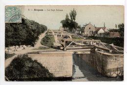 - CPA ARQUES (62) - Les Sept Ecluses 1905 - Edition Campagne à Saint-Omer N° 5 - - Arques