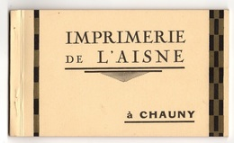 02 AISNE - CHAUNY Carnet Complet De 10 Cartes (voir Descriptif) - Chauny