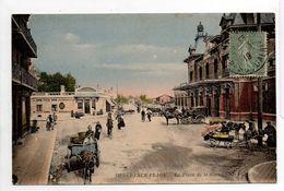 - CPA BERCK-PLAGE (62) - La Place De La Gare 1919 (belle Animation Avec Attelages) - Photo Neurdein 131 - - Berck