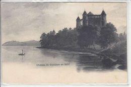CHATEAU DE GRANDSON,ILLUSTRATION DE 1837  - DOS UNIQUE - N/C - VD Vaud