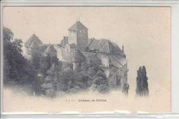 CHATEAU DE CHILLON, VUE INABITUELLE   - DOS UNIQUE - N/C - VD Vaud