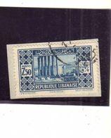 LIBANO LEBANON LIBAN 1930 1935 RUINS OF SUN TEMPLE AT BAALBECK ROVINE 7.50p USATO USED OBLITERE' - Libano