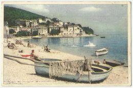 Croatia , Moscenicka Draga - Fishing Boat, Old Postcard - Fishing Boats