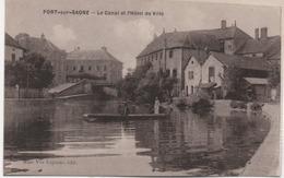 PORT SUR SAONE   LE CANAL ET L'HOTEL DE VILLE - Francia