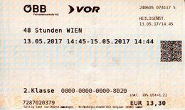 Ticket De Train Vienne Autriche - Railway