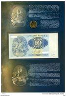 Estland Estonia 10 Krooni 2008 - COMMEMORATIVE BANKNOTE!!! UNC In Official Bank Holder - Estonia