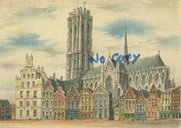 Mechelen :  Hoofdkerk  (  15 X 10.5 Cm ) - Malines
