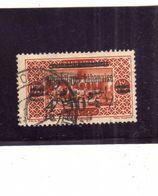 LIBANO LEBANON LIBAN 1928 BEIT-EDDINE PALACE SURCHARGE  4.50p ON 75c USATO USED OBLITERE' - Libano