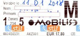 Billet Train + Métro + Bus SNCF STIF - Railway