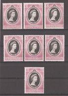 Malaya 1953,lot Of 7 States QE-II Coronation Issue,VF MLH* - Federated Malay States