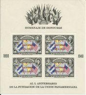 HONDURAS YVERT H/B 3   (DENTADA)   MH  * - Honduras
