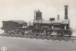 """CV - TRAINS Belgique - Locomotive """"L'Eléphant"""" - Trains"""