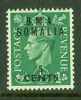 Somalia: 1948   KGVI 'B.M.A. Somalia' OVPT   SG S10   5c On ½d    MH - Somalia