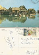 Dahomey Cité Lacustre GANVIE Lake Village PPC Cotonou 10jan1972 To Italy With Golette Esmeralda F.45 Solo - Dahomey