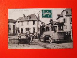 SUPER BELLE COLLECTION CPA NEW TOUS LES JOURS/RAULHAC ARRIVEE DE L'AUTOBUS TOP - Autres Communes