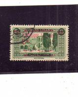 LIBANO LEBANON LIBAN 1928 1929 Mouktara PALACE SURCHARGE  2p ON 1.25 USATO USED OBLITERE' - Libano