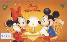 Télécarte Japon * 110-193364 * DISNEY  (5174) MERRY CHRISTMAS * WEIHNACHTEN * TELEFONKARTE * PHONECARD JAPAN * - Disney