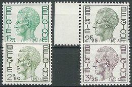 BELGIEN 1971 Mi-Nr. 2/5 Militärmarken ** MNH - Bahnwesen