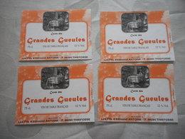 LORRAINE, RARE CUVEE DES GRANDES GUEULES, LOT DE 4 ETIQUETTES DE VIN, THIEFOSSE, VAGNEY, SCHLITTAGE - Advertising