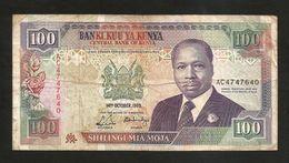 KENYA - CENTRAL BANK Of KENYA - 100 SHILLINGS (1989) - D. TOROITICH ARAP MOI - Kenia