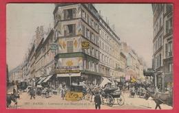 Paris - Carrefour Des Martyrs Et N-D De Lorette ... Superbe Animation - 1911 ( Voir Verso ) - Squares