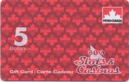 Carte-Cadeau Gift-Card : OLG Slots & Casinos 5 Dollars Canada (www.petro-canada.ca) - Casino Cards