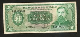 PARAGUAY - BANCO CENTRAL Del PARAGUAY - 100 GUARANIES (1952) - Paraguay