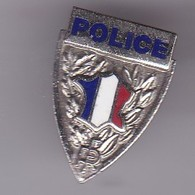 Pin's   POLICE Carte DE FRANCE - Police