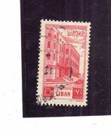 LIBANO LEBANON LIBAN 1953 Postal Administration Building PALAZZO DELLE POSTE 7.50p USATO USED OBLITERE' - Libano