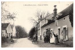 18 CHER - BELLEVILLE Voiture à Chien Route De Châtillon (voir Descriptif) - Francia