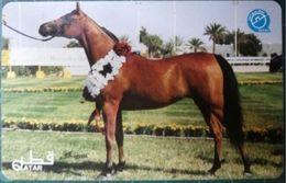 Qatar Telecom, Race Club / Horse Show' 1997, 50-Riyal Brown Horse Card - Qatar
